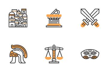 Greece Symbols  Icon Pack