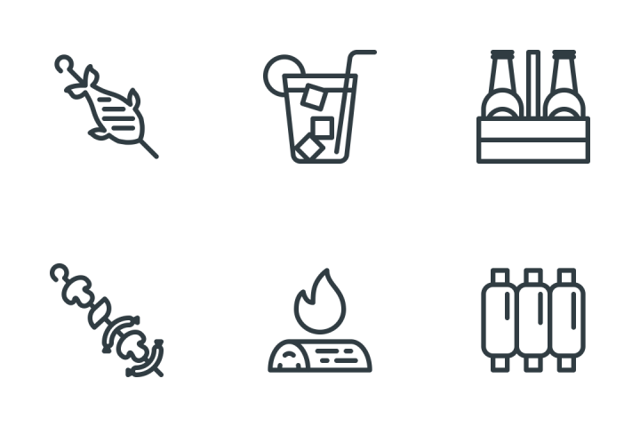 Grill & Barbecue Icon Pack