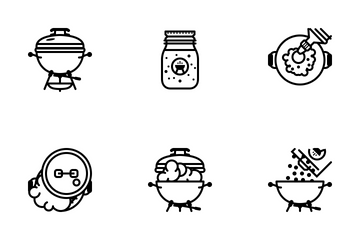 Grill & BBQ (outline) Icon Pack