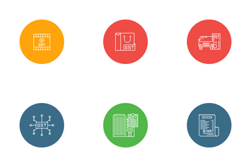 GST - Goods And Services Tax Icon Pack