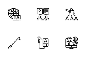 Guide Lead Traveler Icon Pack
