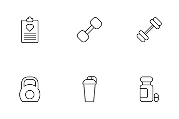 Gym Equipment Icon Pack