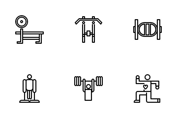 Gym Tool And Equipment 1.3 Icon Pack