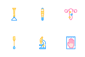 Gynecologist Treatment Icon Pack