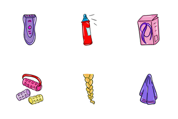 Hair Dress Salon Icon Pack