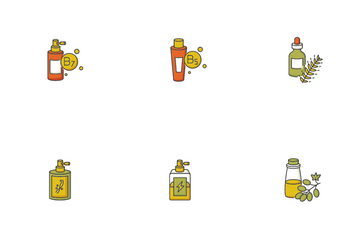 Hair Oils Icon Pack
