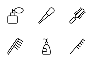 Hair Salon Vector Icons Icon Pack