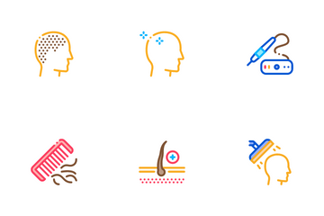 Hair Transplantation Icon Pack