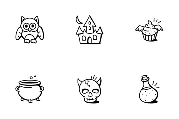 Halloween And Scary Characters Icon Pack