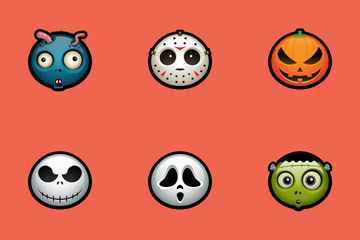 Halloween Avatars Icon Pack