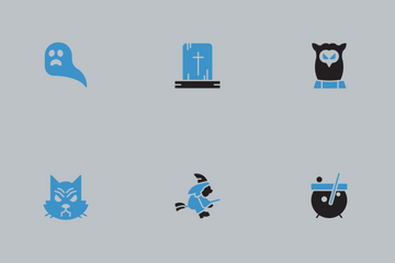 Halloween Blue And Black Vol 2 Icon Pack
