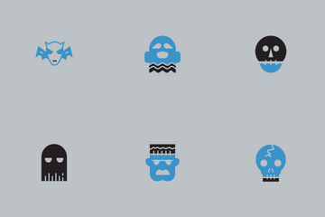 Halloween Blue And Black Vol 3 Icon Pack