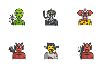 Halloween Costume Avatar Icon Pack