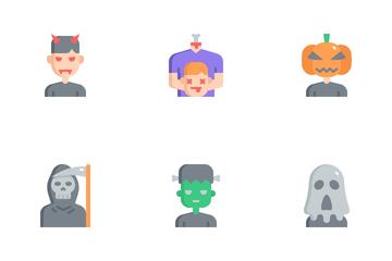 Halloween Costume Avatars Icon Pack