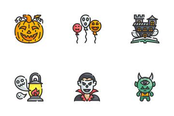 Halloween Decoration Icon Pack