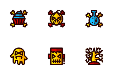 Halloween Filled Line Icon Pack