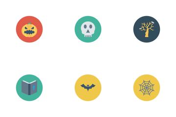 Halloween Flat Circle  Icon Pack