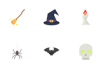 Halloween Flat Icons Icon Pack