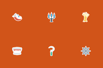 Halloween Flat Paper Icon Pack