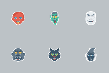 Halloween Flat Paper Vol 1 Icon Pack