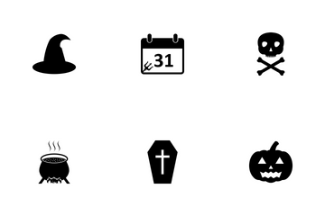 Halloween Glyph Icon Pack