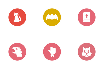 Halloween Glyphs Circle Vol 2 Icon Pack