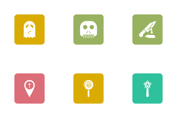Halloween Glyphs Square Rounded Vol 1 Icon Pack