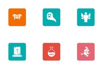Halloween Glyphs Square Rounded Vol 2 Icon Pack
