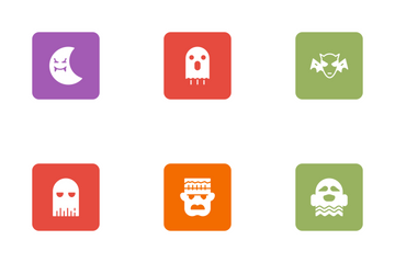 Halloween Glyphs Square Rounded Vol 3 Icon Pack