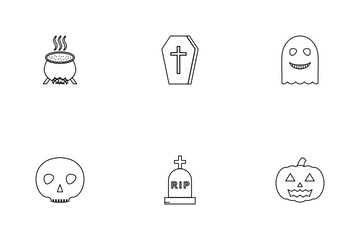 Halloween Linear Icon Pack