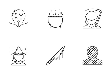 Halloween Outline Icon Pack