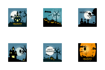 Halloween Poster Design Icon Pack
