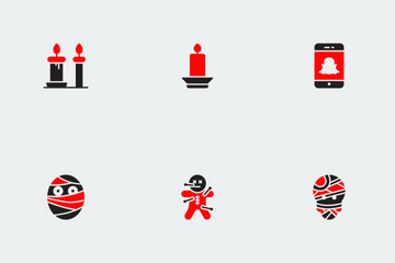 Halloween Red And Black Vol 1 Icon Pack