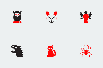 Halloween Red And Black Vol 2 Icon Pack