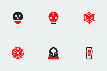 Halloween Red And Black Vol 3 Icon Pack