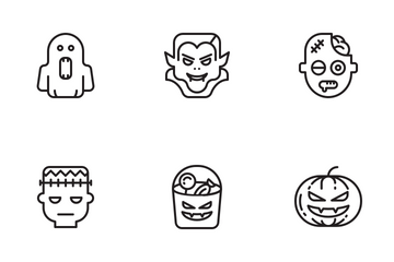 Halooween (outline) Vol.1 Icon Pack
