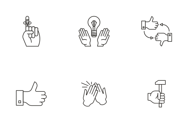 Hand Activities  Icon Pack