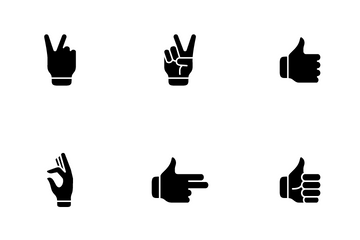Hand And Finger Action Icon Pack