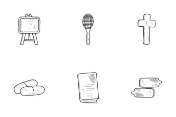 Hand Drawn Basic Pack 1 Icon Pack