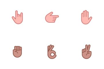 Hand Emoji Icon Pack
