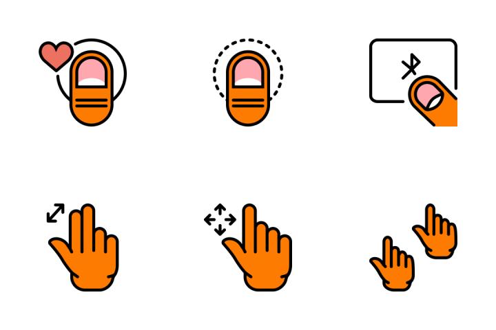 Hand Gesture 1 - Retro Icon Pack
