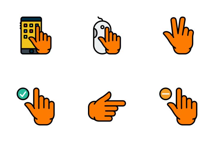 Hand Gesture 2 - Retro Icon Pack