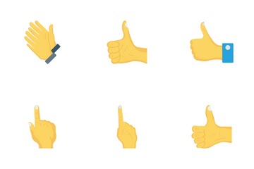 Hand Gestures Flat Icon Pack