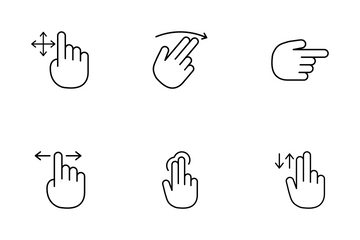 Hand Gestures Mobile Icon Pack