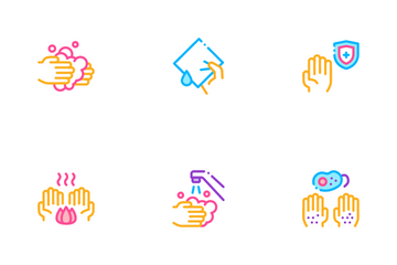 Hand Healthy Hygiene Icon Pack