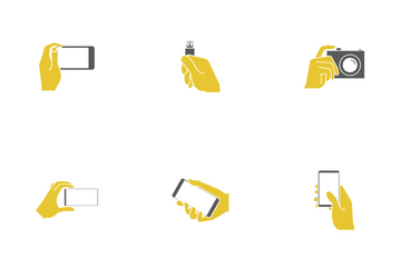 Hand Holding Device Icon Pack