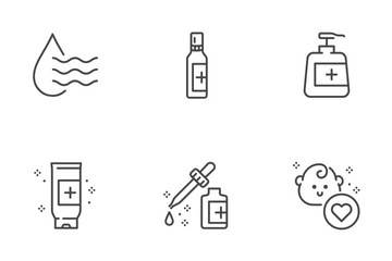Hand Sanitizer Icon Pack