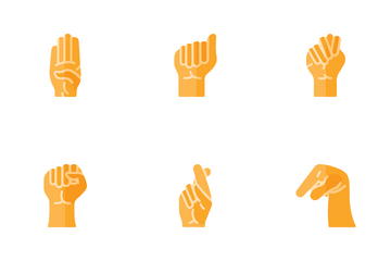 Hand Sign For Deaf Icon Pack