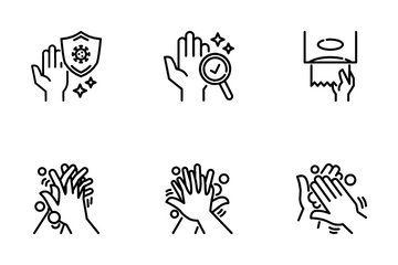 Hand Washing. Icon Pack