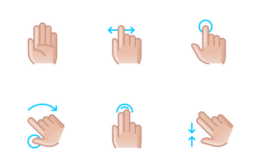 Hands & Gestures (color) Icon Pack